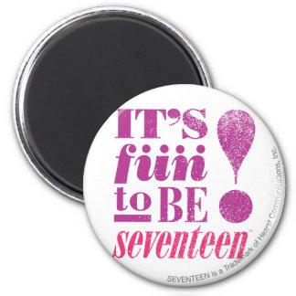 Fun 2 B 17-Purple 6 Cm Round Magnet