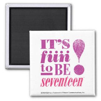 Fun 2 B 17-Purple Square Magnet