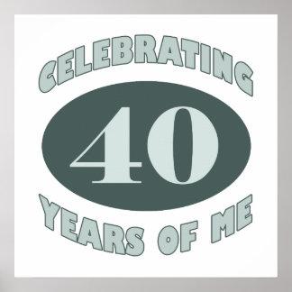 Fun 40th Birthday Gifts Print