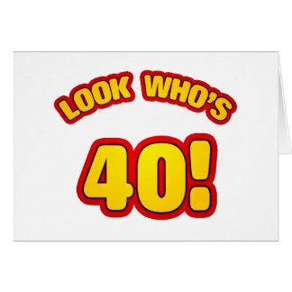 Fun 40th Birthday Presents Cards