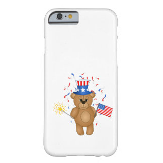 Fun 4th July Independence Day Cute Teddy Bear Barely There iPhone 6 Case