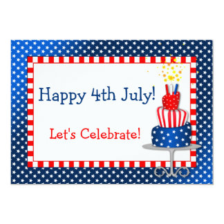 Fun 4th July Independence Day Party Invitation