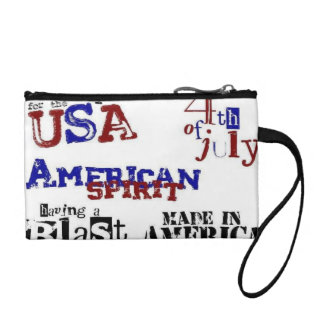 Fun 4th of July Bag Coin Wallets