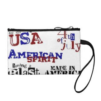 Fun 4th of July Bag Change Purses