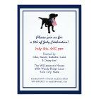 Fun 4th of July Black Lab with USA American Flag Card