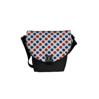 Fun 4th of July Red White and Blue Messenger Bags