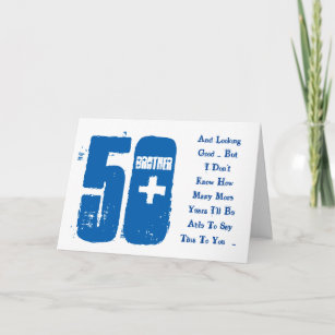 Brother 50th Birthday Cards