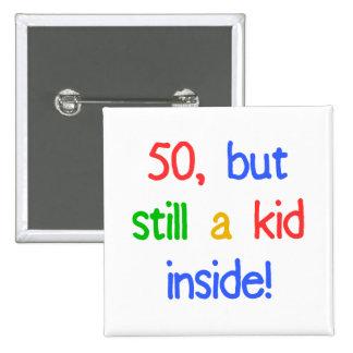 Fun 50th Birthday Humor 15 Cm Square Badge