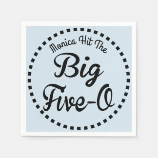 Fun 50th Birthday Party - Over The Hill Paper Napkin