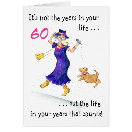 Fun 60th Birthday Card for a Woman