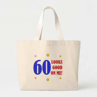 Fun 60th Birthday Gifts Jumbo Tote Bag
