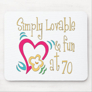 Fun 70th Birthday Gifts Mouse Mat