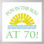 Fun 70th Birthday Gifts Print