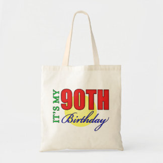 Fun 90th Birthday Party Gifts Budget Tote Bag
