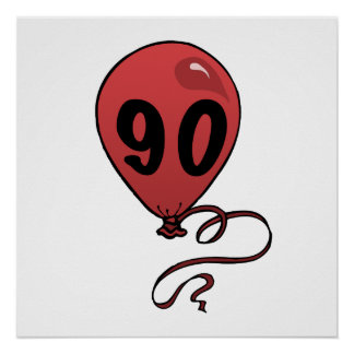 Fun 90th Birthday Party Supplies Poster