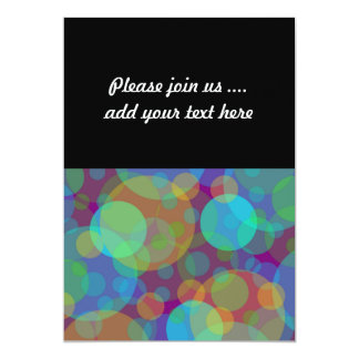 Fun Abstract Art Colorful Circles 13 Cm X 18 Cm Invitation Card