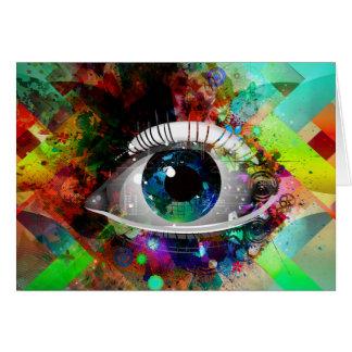 Fun Abstract Art eye design Greeting Card