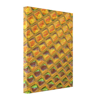 fun Abstract candy waffle pattern Canvas Print