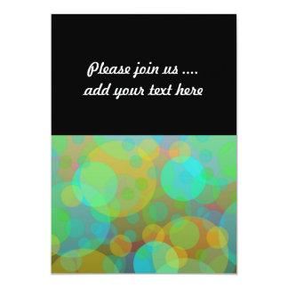 Fun Abstract Circles Orbs Modern Art 5x7 Paper Invitation Card