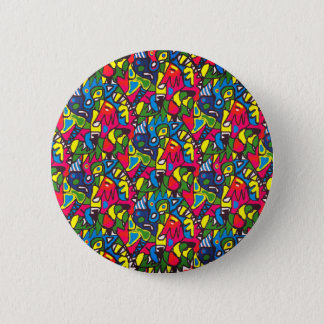 Fun abstract patterned button