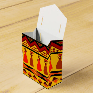 Fun African Tribal pattern party favor box