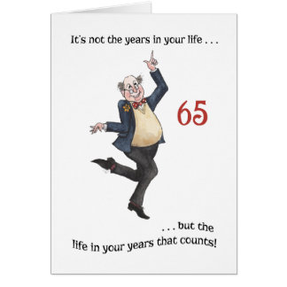 Fun Age-specific 65th Birthday Card for a Man