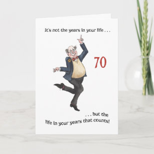 Fun Age Specific 70th Birthday Card For A Man