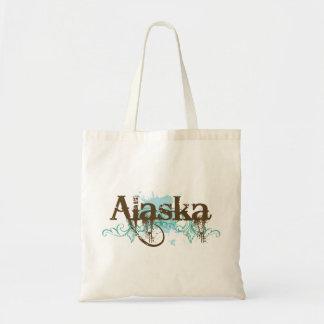 Fun Alaska Grunge T-shirt Gift Budget Tote Bag
