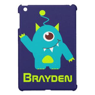 Fun alien face case aqua blue name mini case iPad mini cases