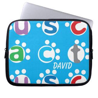 Fun Alphabet Play & Paw Print Design Laptop Computer Sleeve
