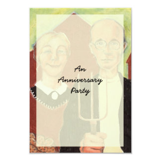 FUN ~ American Gothic Anniversary Party Invitation
