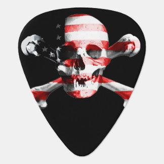 Fun American Pirate Skull and Crossbones Guitar Pick