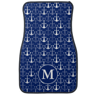 Fun Anchor Pattern | Add Your Initial Car Mat