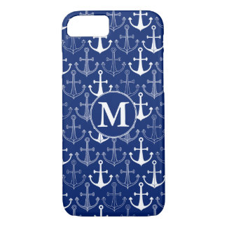 Fun Anchor Pattern | Add Your Initial iPhone 8/7 Case