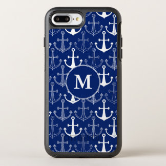 Fun Anchor Pattern | Add Your Initial OtterBox Symmetry iPhone 8 Plus/7 Plus Case
