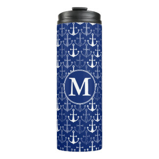 Fun Anchor Pattern   Add Your Initial Thermal Tumbler
