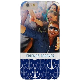 Fun Anchor Pattern | Your Photo & Text Barely There iPhone 6 Plus Case