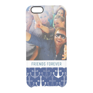 Fun Anchor Pattern | Your Photo & Text Clear iPhone 6/6S Case