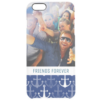 Fun Anchor Pattern | Your Photo & Text Clear iPhone 6 Plus Case