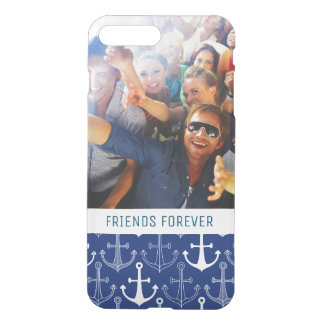 Fun Anchor Pattern | Your Photo & Text iPhone 8 Plus/7 Plus Case