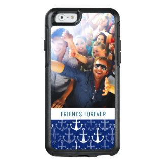 Fun Anchor Pattern | Your Photo & Text OtterBox iPhone 6/6s Case