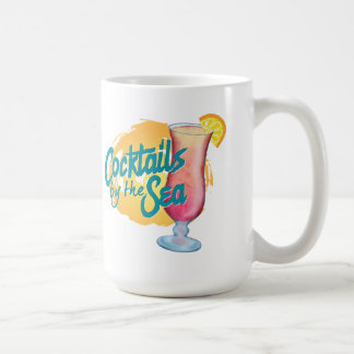 Fun and colorful Cocktails by the Sea coffee mug