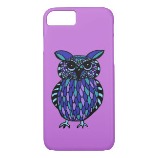 Fun and Colorful Hand Drawn Owl Iphone Case