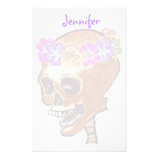 Fun and Colorful Skull stationery