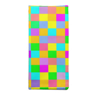 Fun and colorful squares napkin