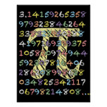 Fun and Colourful Chalkboard-Style Pi Calculated Poster