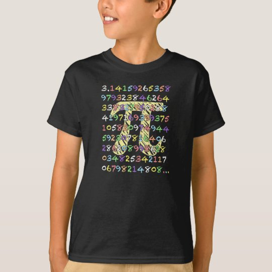 Fun and Colourful Chalkboard-Style Pi Calculated T-Shirt
