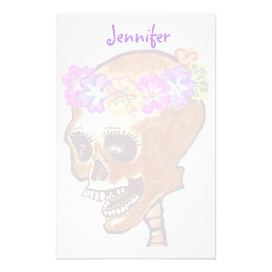 Fun and Colourful Skull stationery