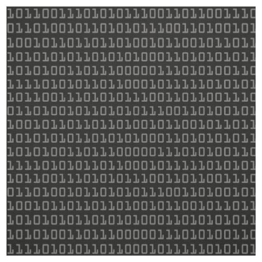 Fun and Cool Computer Binary Code Pattern Fabric