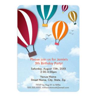 Fun and Cool Hot Air Balloons   Birthday Card